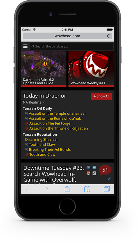 New Site Feature: Wowhead Now Mobile-Friendly - Wowhead News