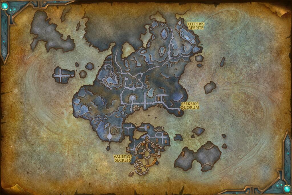 Mapa de localização - fonte wowhead.com