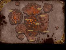 Карта локации нового рейдового подземелья Огненные просторы который выйдет в патче 4.2 в wow катаклизм