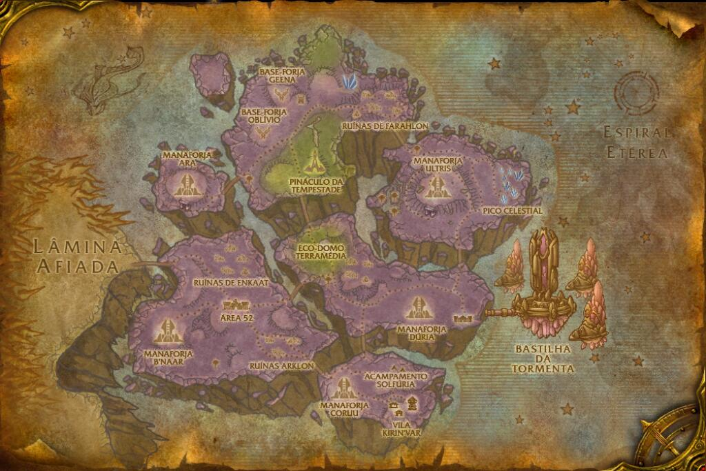 Mapa da área