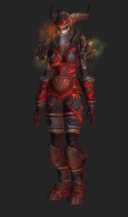 Human Female & Colossal Dragonplate Battlegear - Transmog Set - World of Warcraft