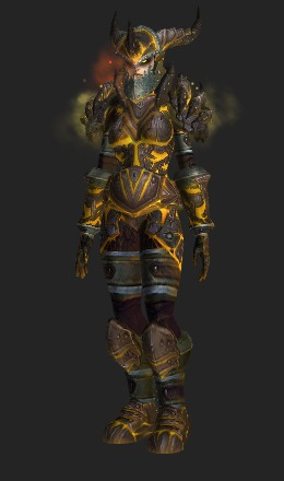 Human Female & Colossal Dragonplate Battlegear (Raid Finder Recolor) - Transmog Set ...