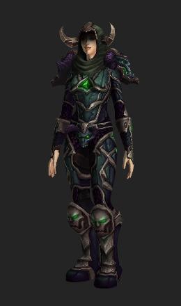 demongaze armor heroic recolor transmog set world of warcraft