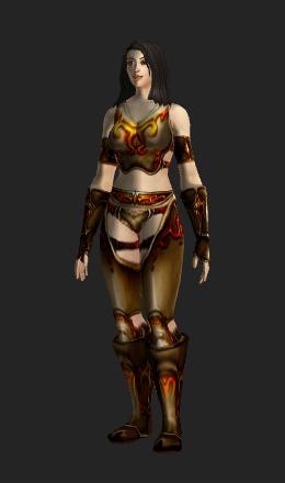 Human Female & Bloodfist Plate - Transmog Set - World of Warcraft