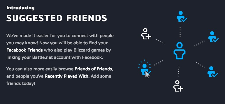 Facebook Friends and Suggested Friends Live in Battle net