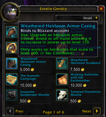 new heirlooms in 7 2 5 and legion leveling guide wowhead news