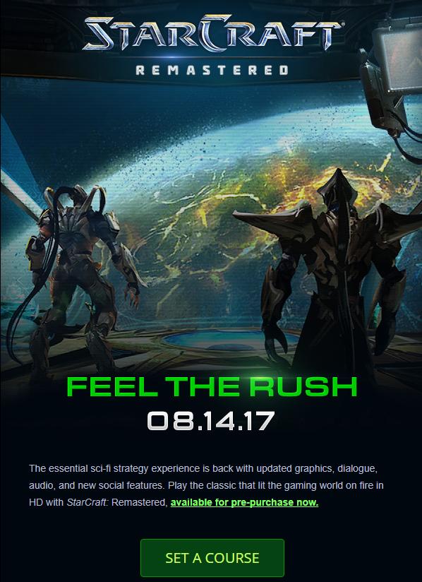 Weekly Blizzard Roundup: StarCraft Remastered, Alexei Stukov