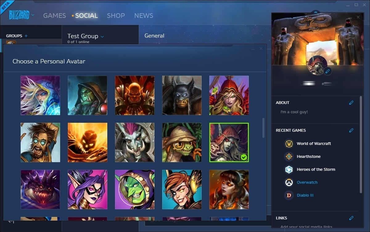 Blizzard Battle net Social Feature - Datamined Groups and Profiles