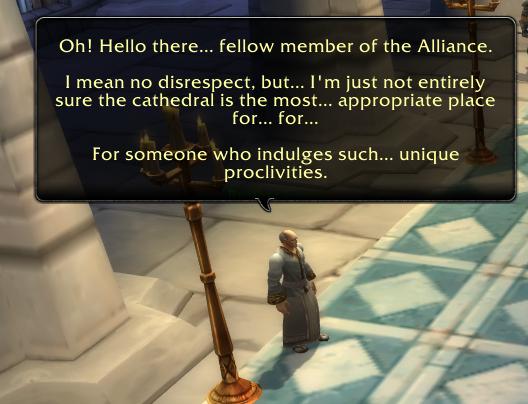 Void Elf Interesting Interactions - Communicate Cross Faction