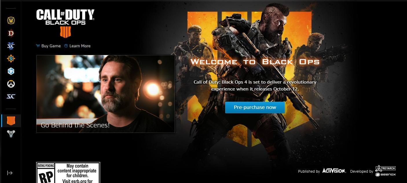 Call of Duty: Black Ops 4 to join Battle Net Launcher - Wowhead News