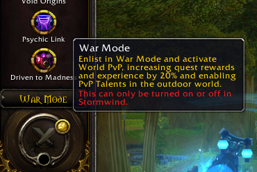 War Mode Toggle Restrictions Loosened In Patch 81 Tides Of