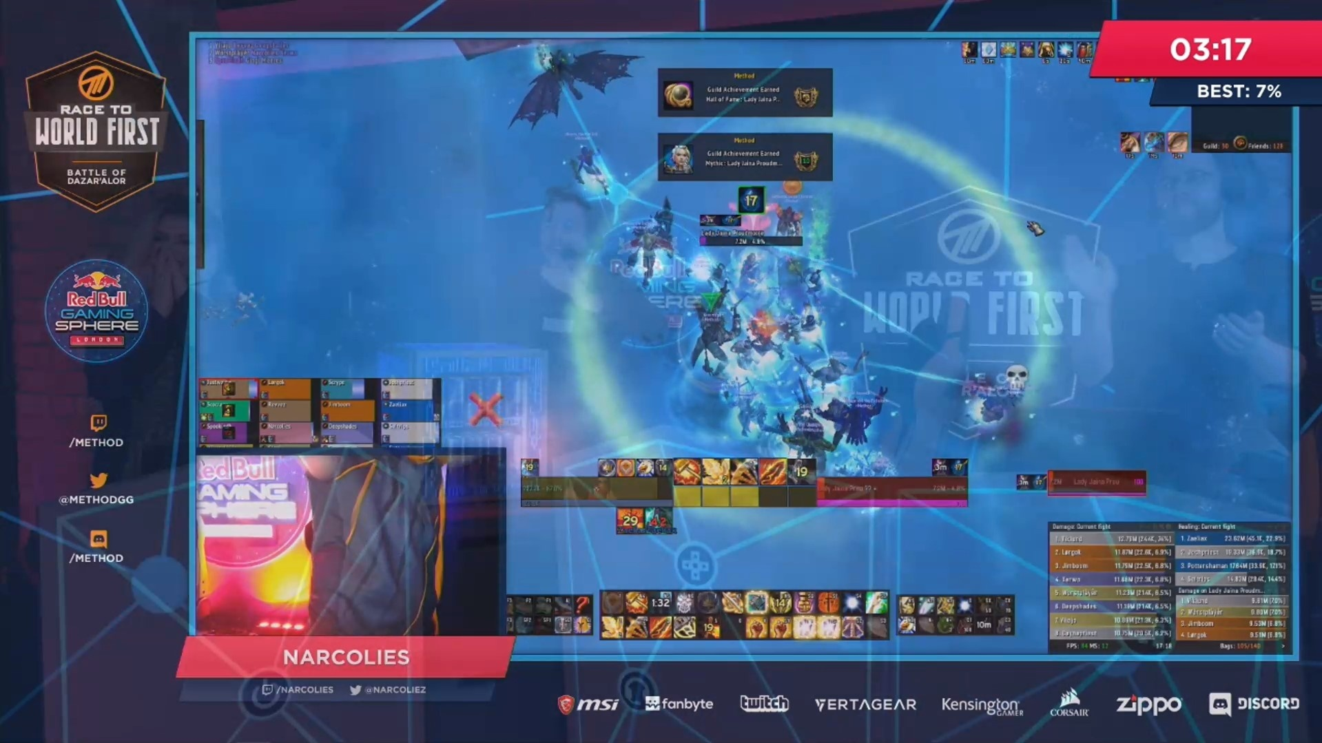 Method Achieves World First Mythic Jaina Proudmoore in