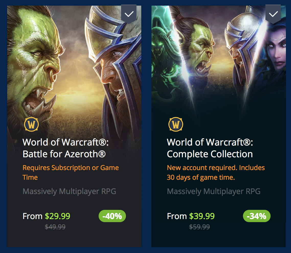 Blizzard Sale for WoW - Character Services, Battle of