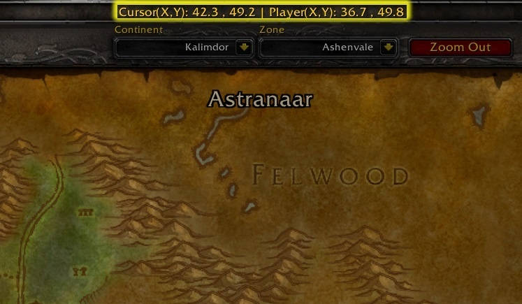 Wow Classic Addon Spotlight Coordinates By Tomcat S Tours Wowhead News