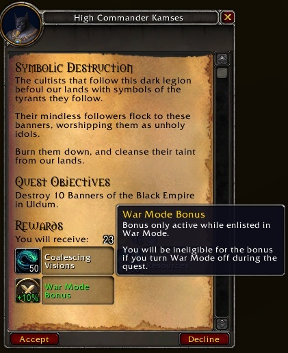 War Mode Bonuses Increase Rewards From Assault Daily Quests In Patch 8.3 -  Wowhead News