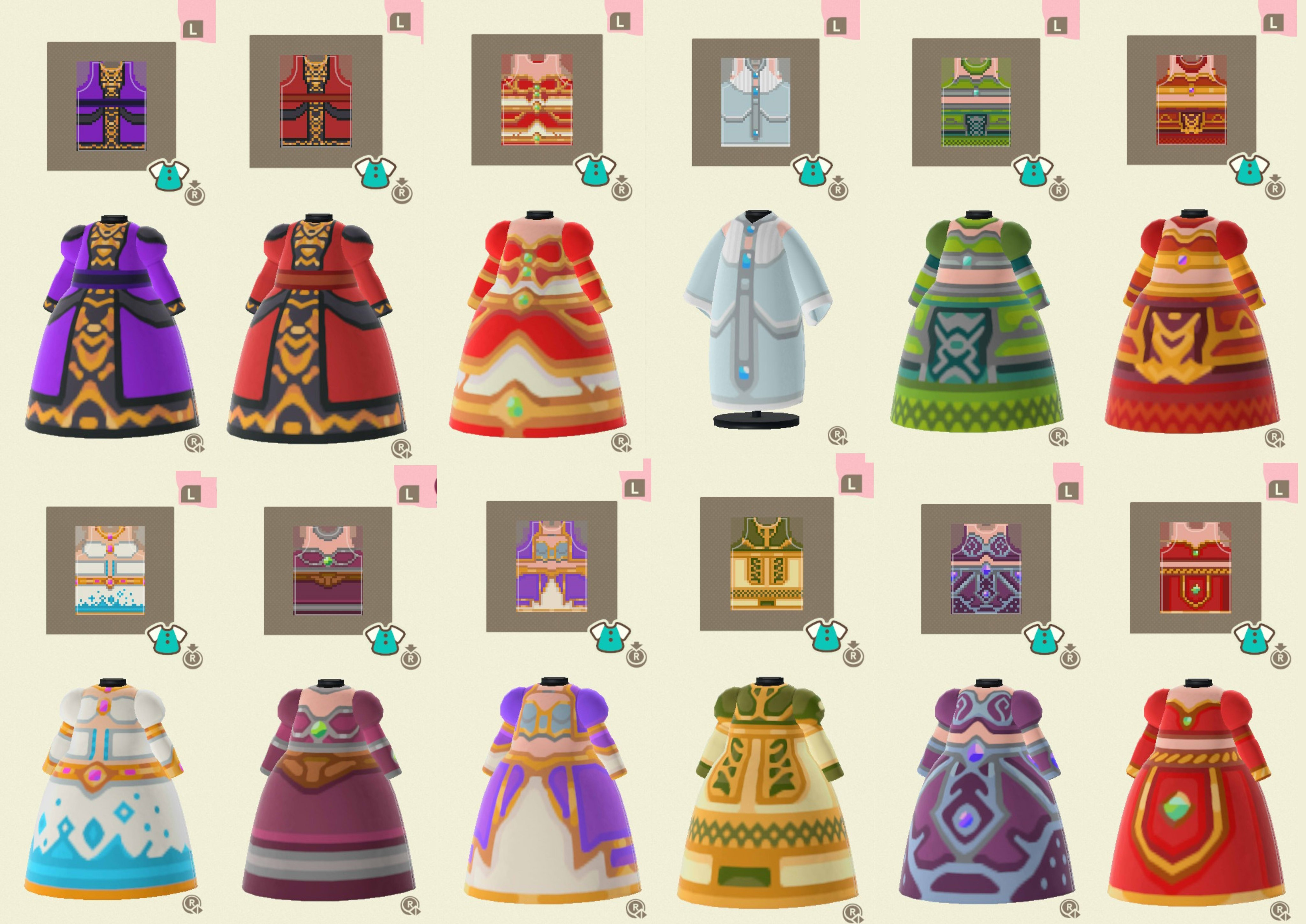 WoW Dresses Recreated in Animal Crossing: New Horizons by Kuridel
