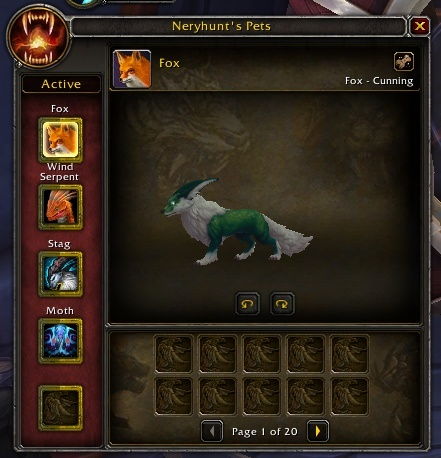 Hunter Pet Stable Size Increased From 60 To 200 Slots In Shadowlands Wowhead News