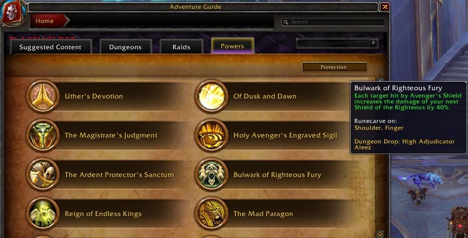Легендарные предметы Торгаста в WoW Shadowlands