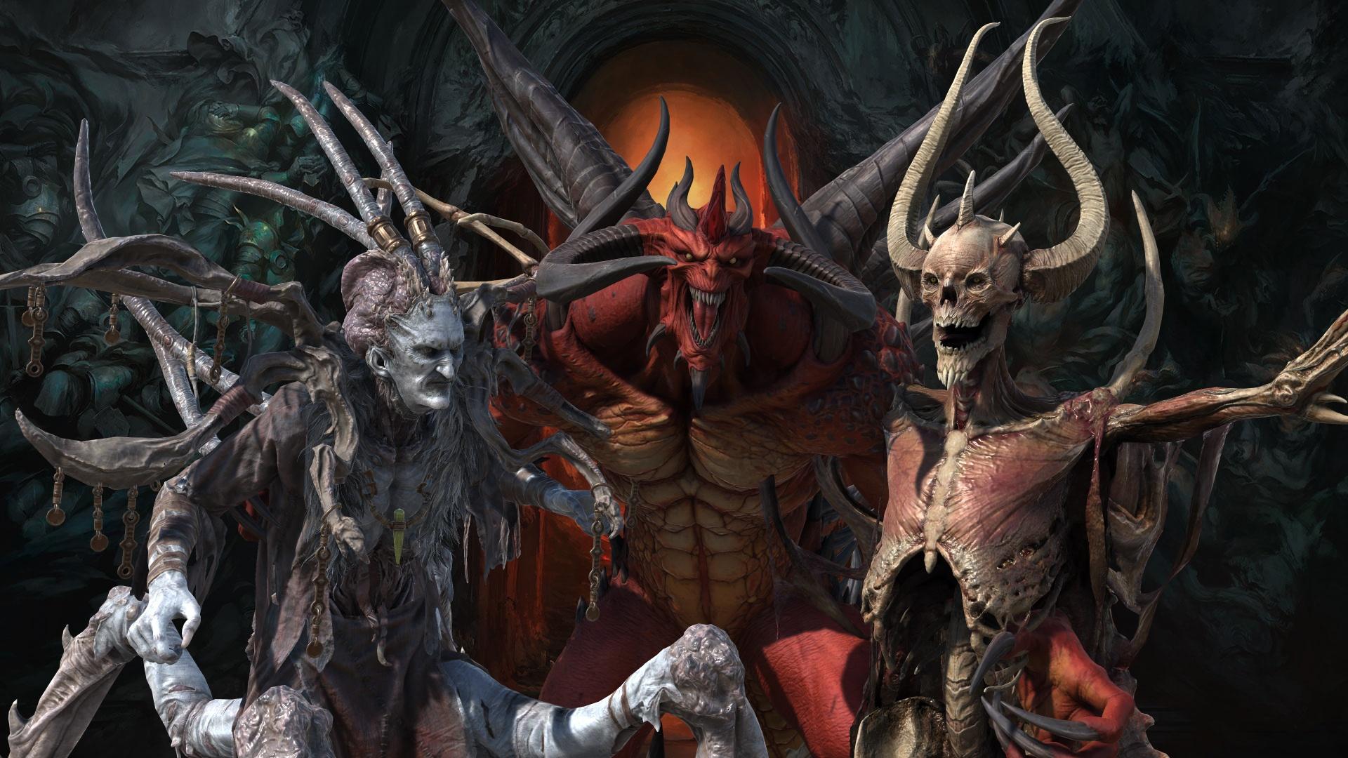 New Diablo II: Resurrected Models - Diablo, Baal, Mephisto, The Dark Wanderer