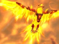 Alysrazor flying over Firelands.