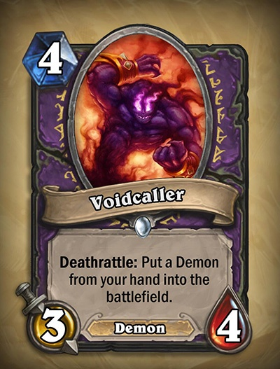 Voidcaller - Warlock Card from Curse of Naxxramas