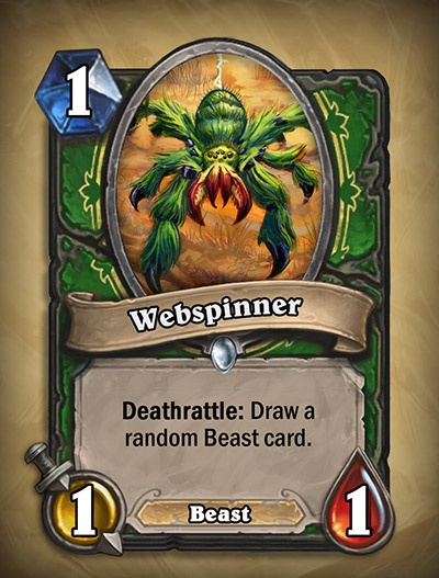 Webspinner - Hunter Card from Curse of Naxxramas