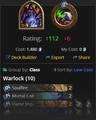New Decks Sidebar in Decks on Hearthhead (Hearthstone)