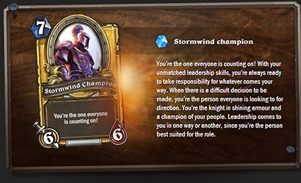 Blizzard's Hearthstone Quiz