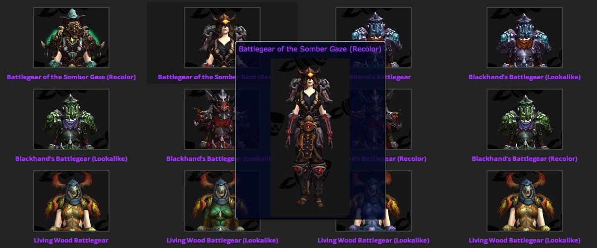 blood elf model preview tier 17 raid armor garrison timer app now