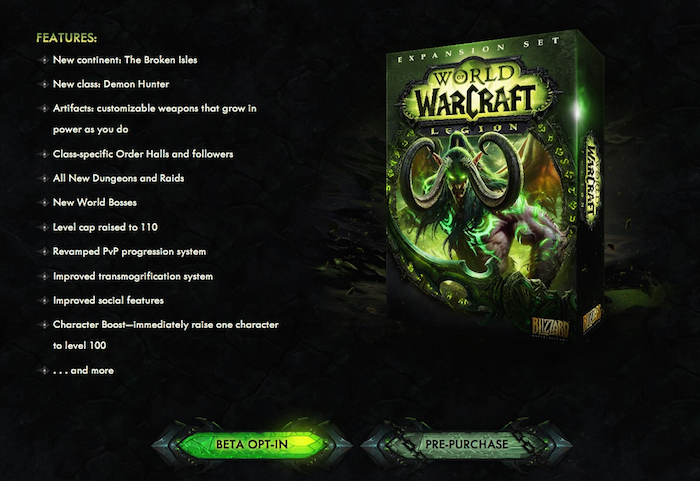 World of warcraft legion expansion announcement wowhead news