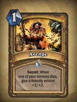 Avenge - Paladin Card from Curse of Naxxramas
