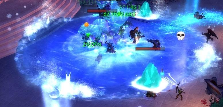 Игроки, попавшие в Ледяную бурю, получили эффект Погребение во льду