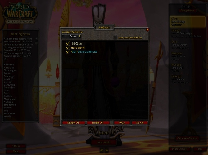 WoW Addon Writing Guide Part One: How to make your first