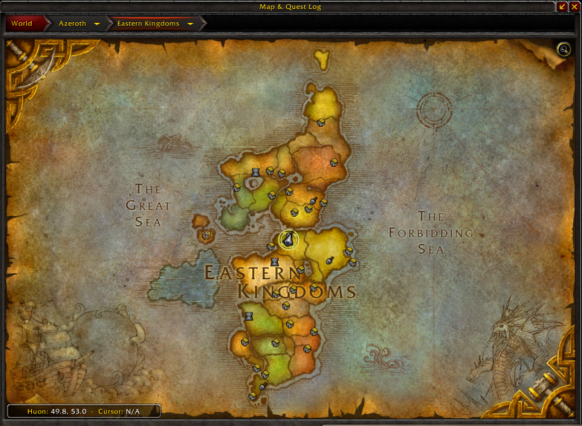 Huon bronzebeards guide to archeology gold guides wowhead in the tracking icon on the map you should now select track digsites on the map you will get four digsite icons on the current continent gumiabroncs Images