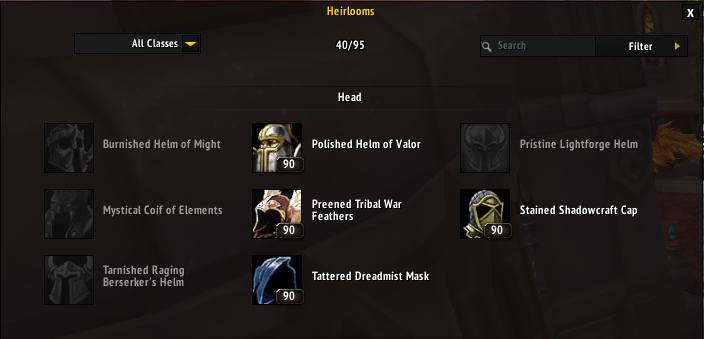 heirloom collections guide guides wowhead
