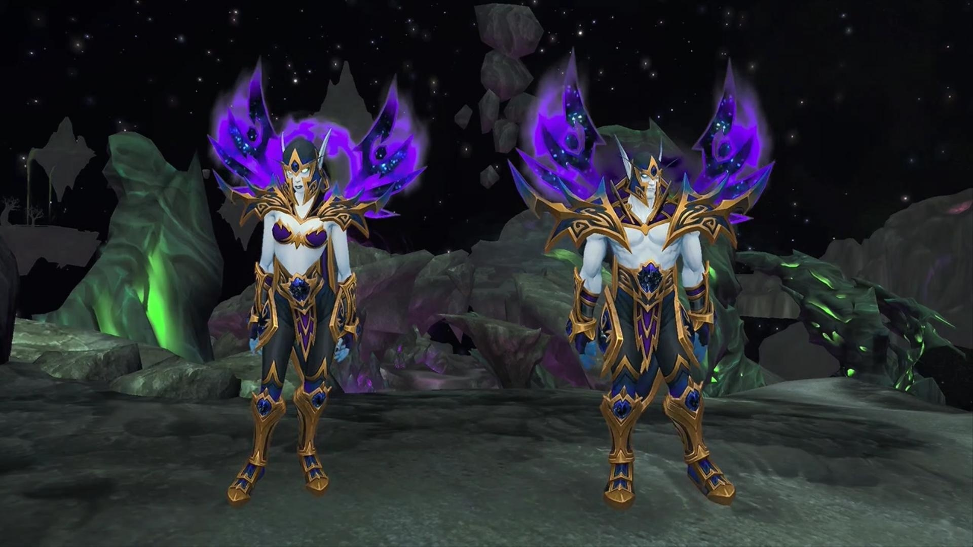 Void Elf Allied Race Guides Wowhead For example, i feel like this mixed look on a void elf warrior looks more appropriate for a plate wearer than the default look. void elf allied race guides wowhead