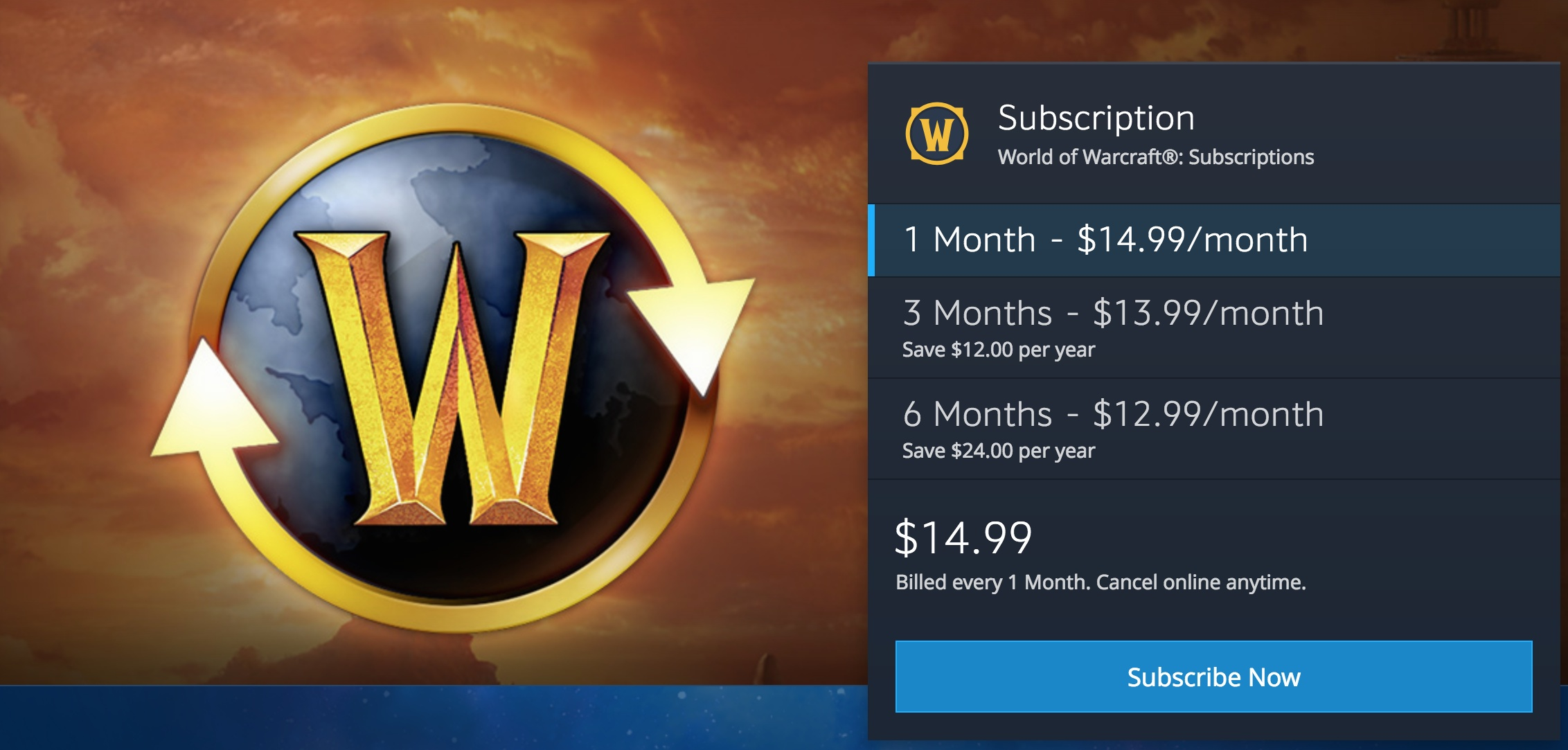 how to purchase world of warcraft game time - guides
