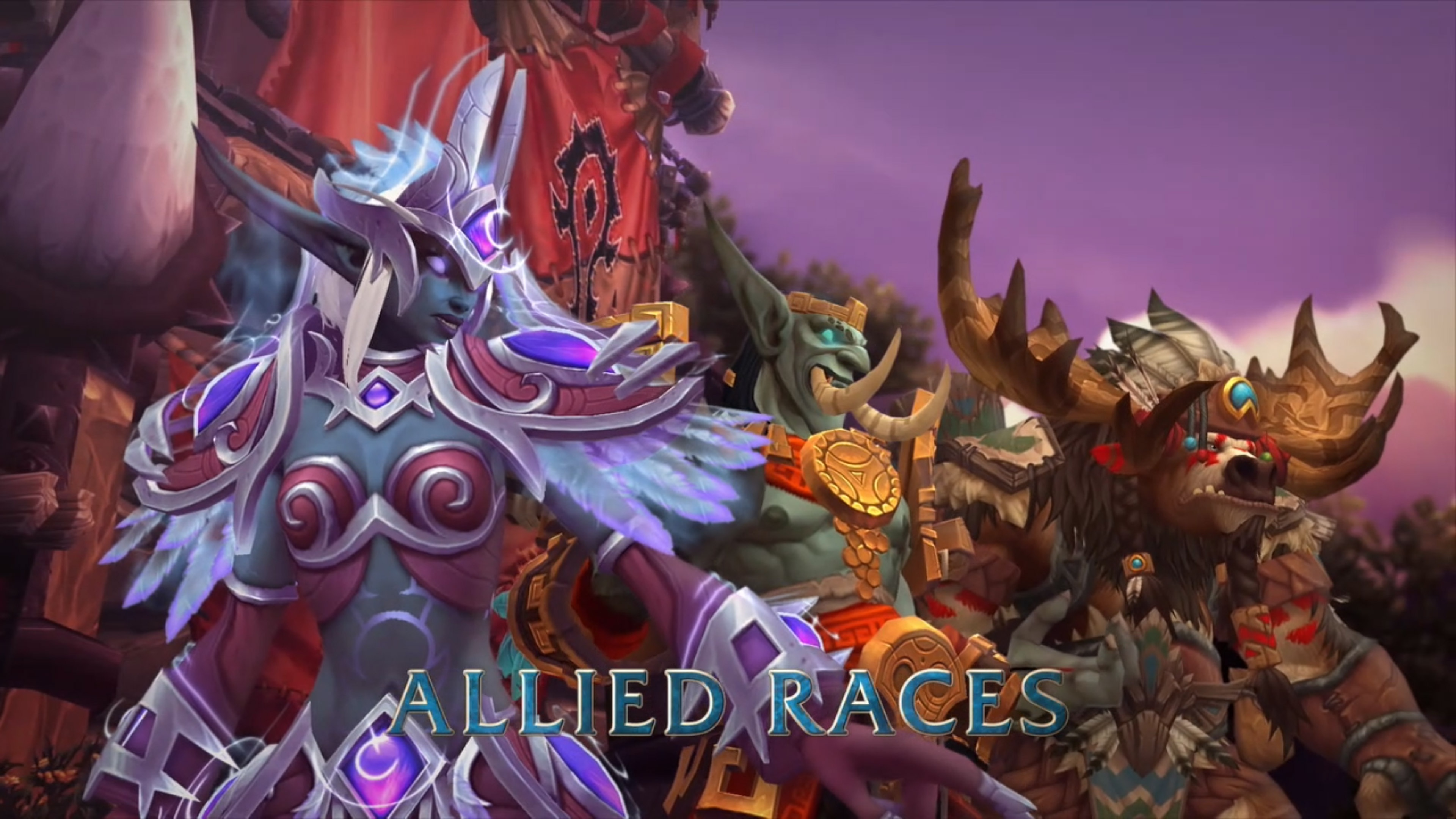 how to get a allied races