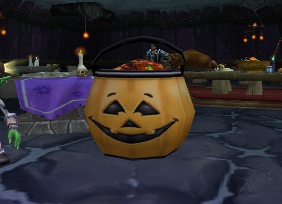 點擊南瓜造型的糖果桶就可以取得一把糖果。
