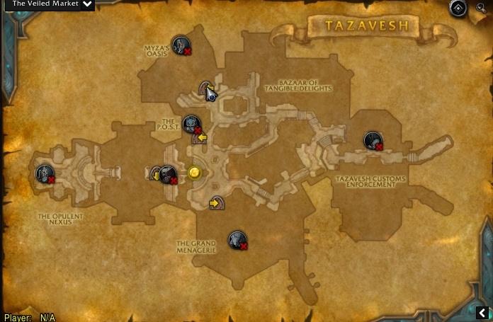 Mapa dos chefes