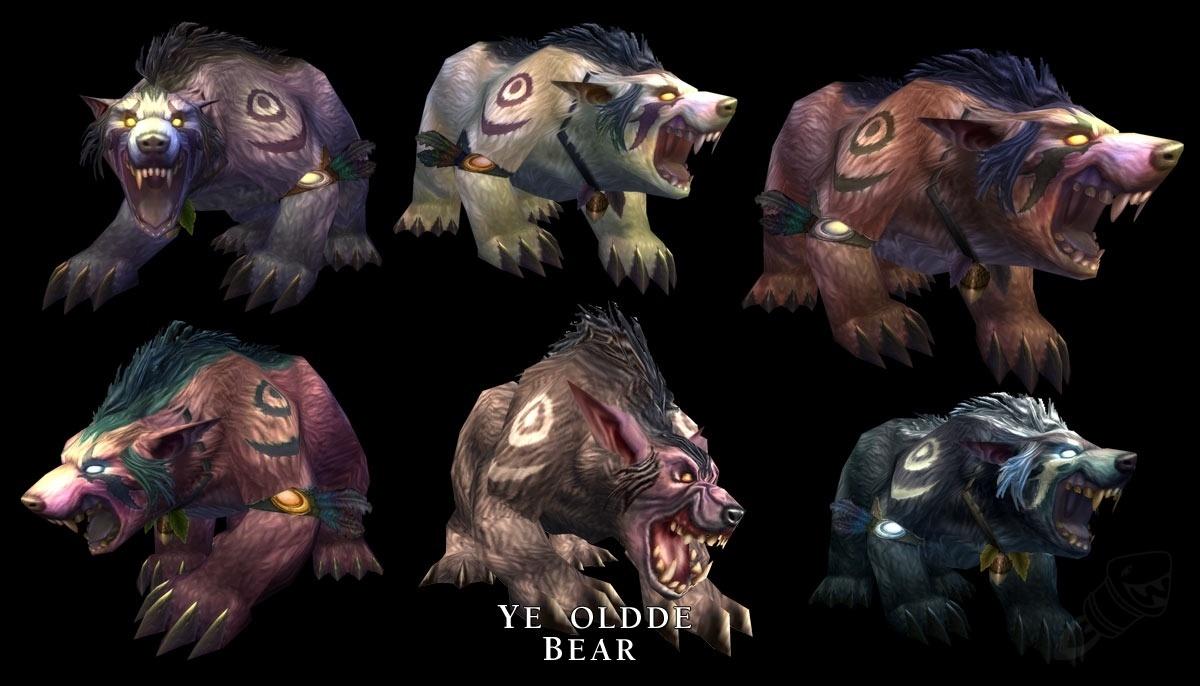 New Druid Forms Night Elf Bear Wowhead News