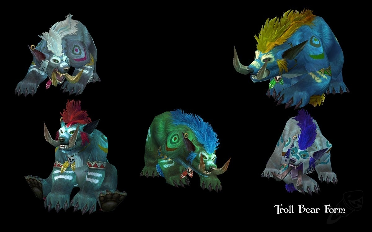 Blizzard Updates Troll Worgen Druid Forms Weve Got 3d Models