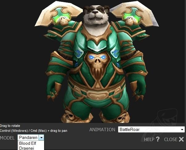 New Site Feature: 3D Modelviewer Redone and Pandaren Added
