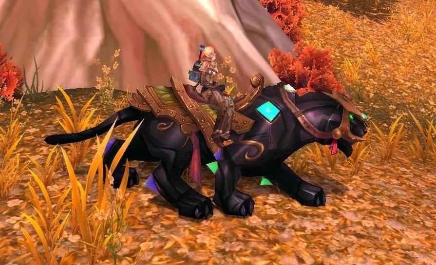 Panthère d'onyx ornée de joyaux monture volante epique