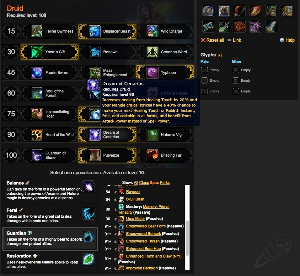 Warlords of draenor talent calculator level 100 talents and draenor