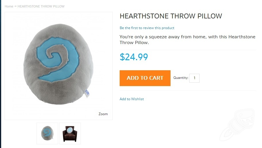 Hearthstone Throw Pillow : News Roundup: Deck Tech, iPad version, Throw Pillow, Naxxramas Blog