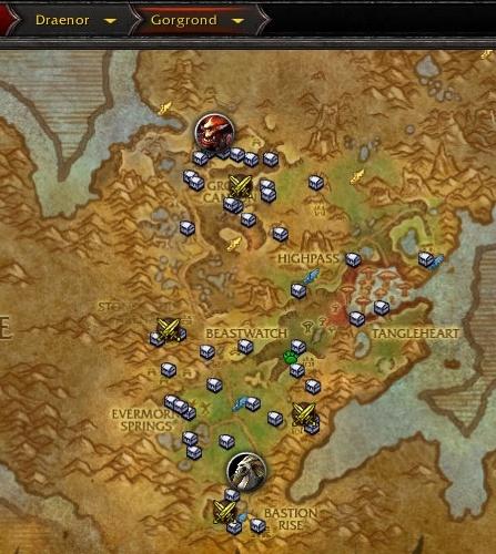 Schatzkarte Von Gorgrond Gegenstand World Of Warcraft