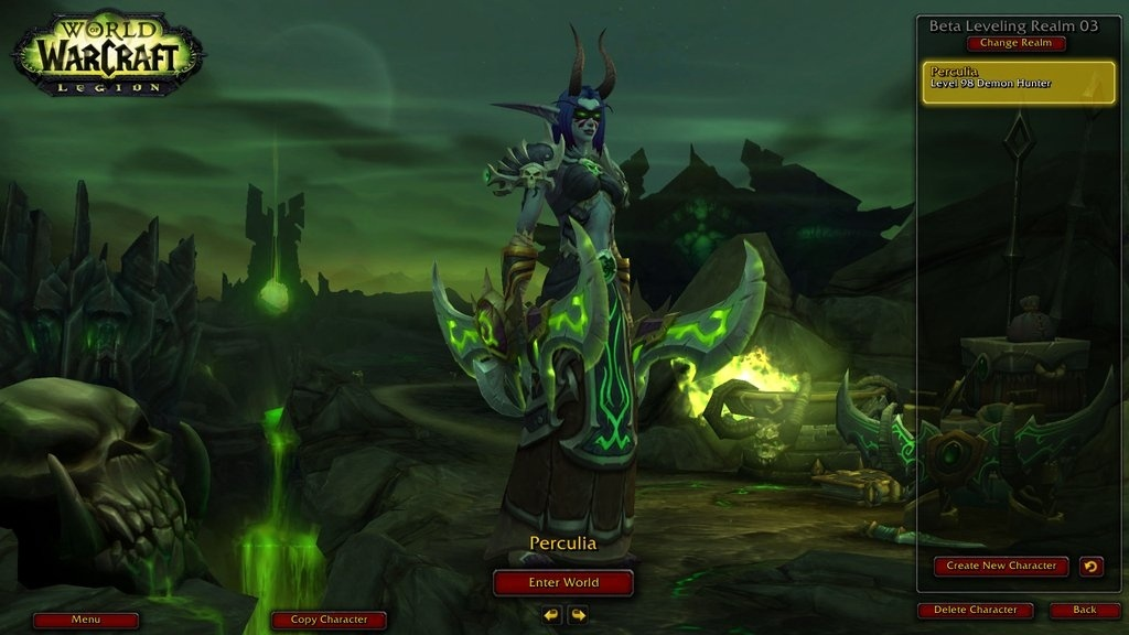 Legion Alpha - Quests and Screenshots of Demon Hunter