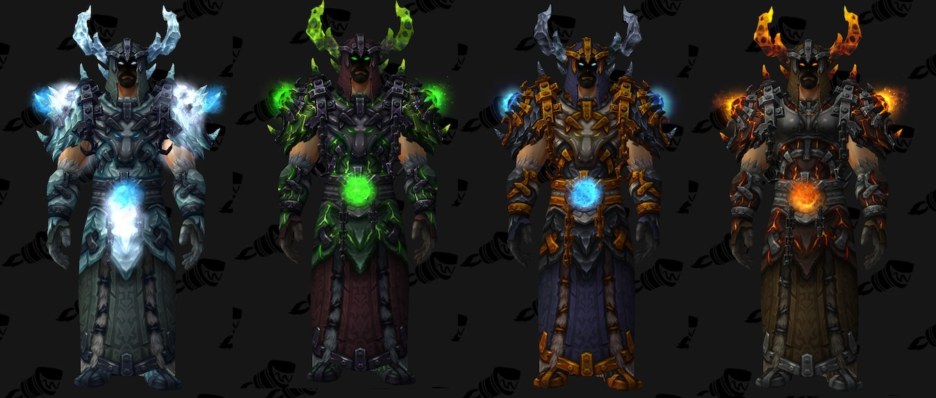 wow boa how to get the new races arma set