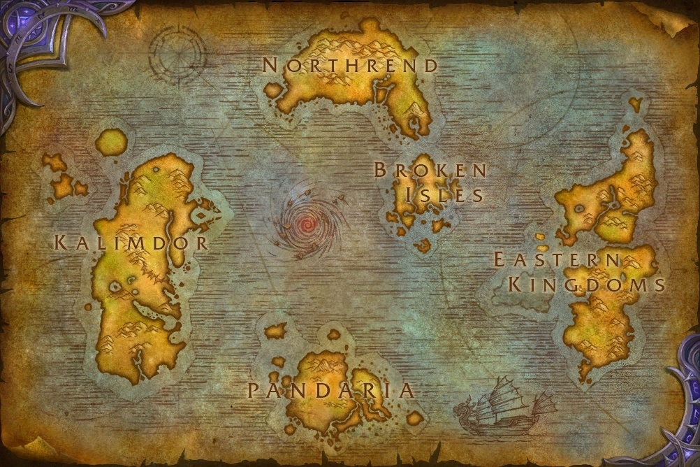 Broken isles in the world map - World of Warcraft Forums